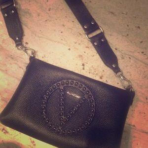 Valentino black studded leather crossbody